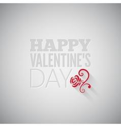 valentines day flower on gray design background vector image