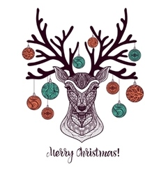 Colored Christmas Deer vector image vector image