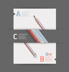 Creative template with pencil banner vector