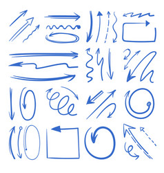 different doodle arrows set pictures vector image vector image
