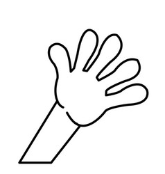kid hand showing a five count image vector image