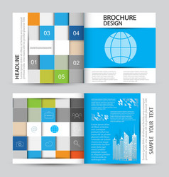 modern abstract brochure vector image vector image