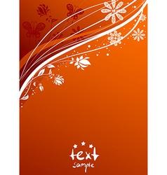 Orange Floral Backdrop vector image