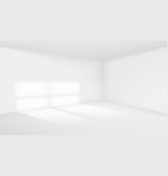 3d empty room interior white background vector image