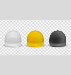 3d realistic white yellow and black vector