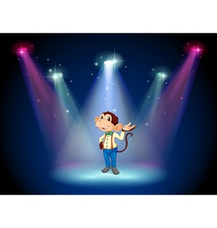 A monkey standing at the stage vector image