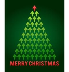 arrow christmas tree business theme vector image