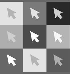 arrow sign grayscale version vector image