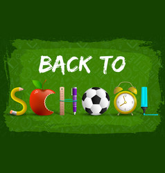 back to school chalk background vector image