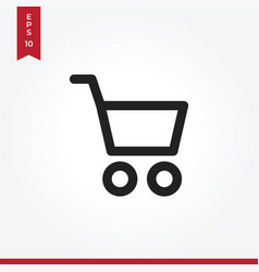 basket icon in modern style for web site and vector image
