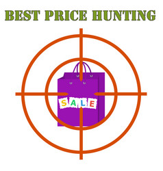 Best price hunting banner sales bag at gunpoint vector