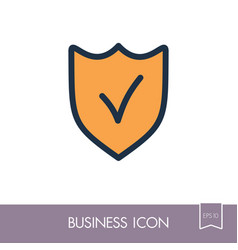 best protection shield outline icon vector image
