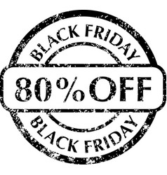 black friday rubber stamps vector image