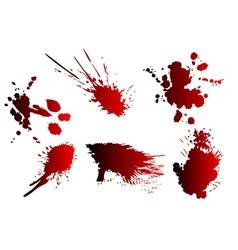 blood spatter vector image