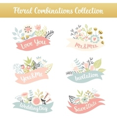 Bouquet with phrases vector