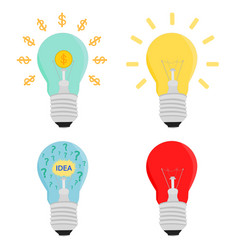 business light bulb idea concepts icon vector image