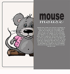Card with text and mouse vector
