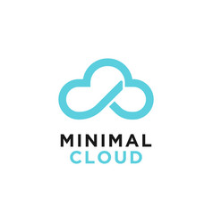cloud logo design inspiration vector image
