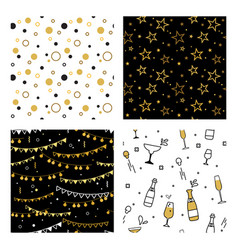 Collection seamless pattern designs for vector