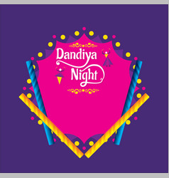 creative dandiya night invitation card design vector image
