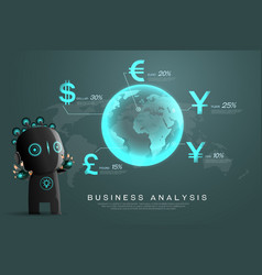Currency business analysis vector