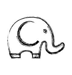 Cute elephant icon vector