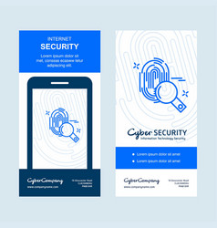 cyber security banner design vector image