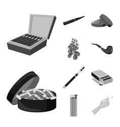 Design health and nicotine logo vector
