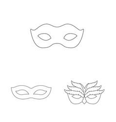 Design masquerade and mystery icon set vector