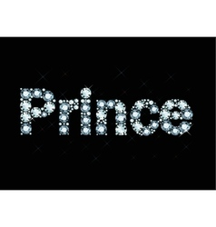 Diamond Word Prince vector