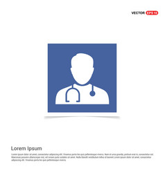doctor icon pictogram - blue photo frame vector image