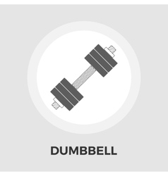 Dumbbell flat icon vector image