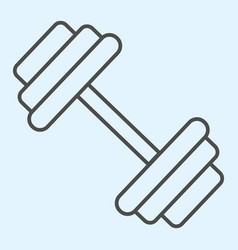 Dumbbells thin line icon heavy weights barbel vector