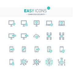 Easy icons 43e computer security vector