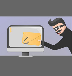 Email phishing concept background cartoon style vector