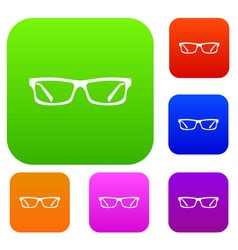 eye glasses set collection vector image