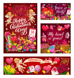 february 14 holiday love valentines day signs vector image