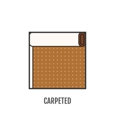 Flat icon of carpeted Finishing materials floor vector image