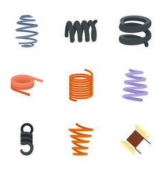 flexible cable icon set flat style vector image