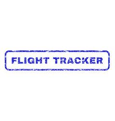 Flight tracker rubber stamp vector