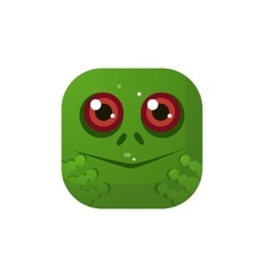 Frog Square Icon vector