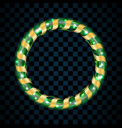 gold and green circle isolated on transparent vector image