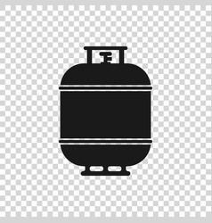 Grey propane gas tank icon isolated on transparent vector