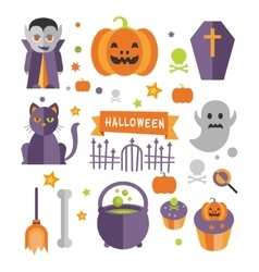 Halloween symbols collection vector
