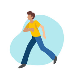 Hurrying young man in vector