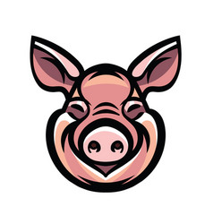 image of swine head vector image