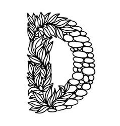 Letter alphabet d vector