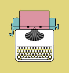 Logo style retro outlines typewriter vector