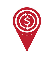 map pin pointer money dollar sign icon vector image
