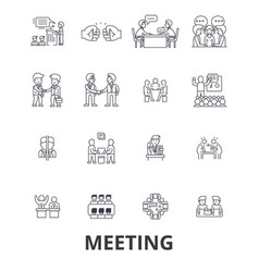 Meeting conference business room presentation vector